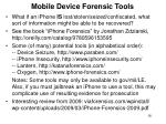 mobile device forensic tools