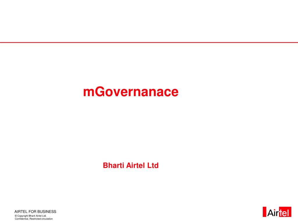 mgovernanace bharti airtel ltd l.
