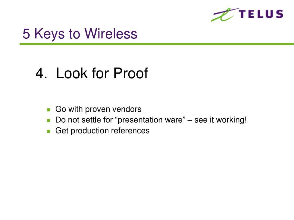 5 Keys to Wireless