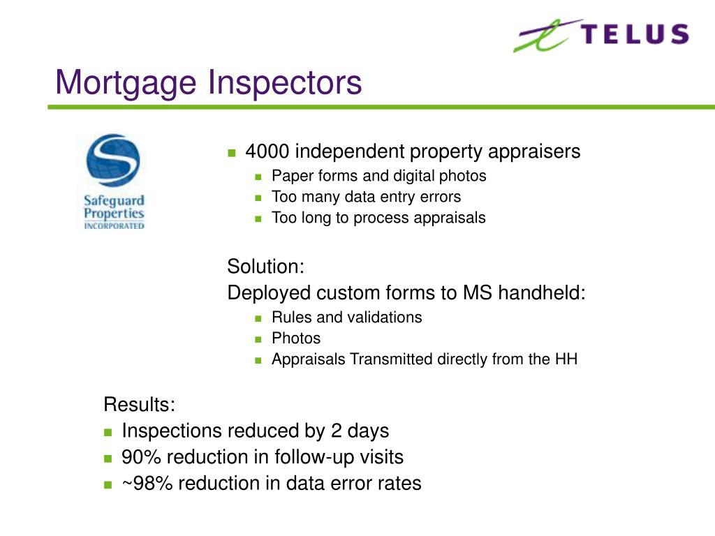 Mortgage Inspectors