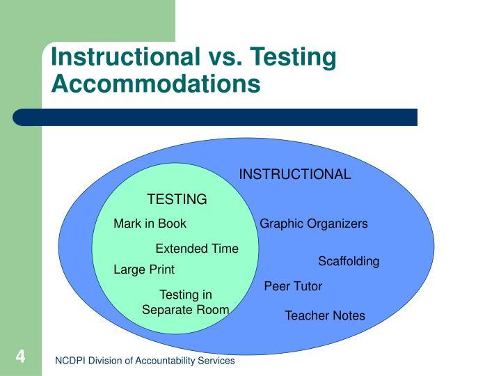 Instructional vs. Testing Accommodations