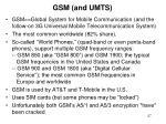 gsm and umts