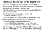 hardware encryption on the blackberry