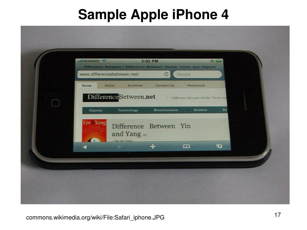 Sample Apple iPhone 4