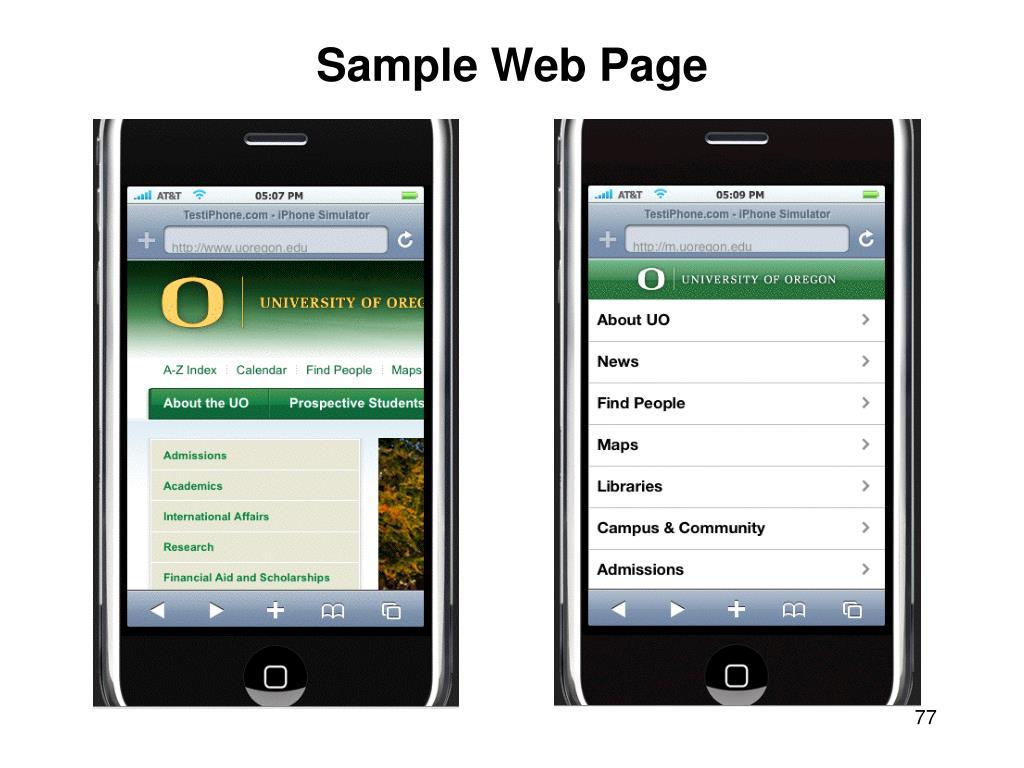 Sample Web Page