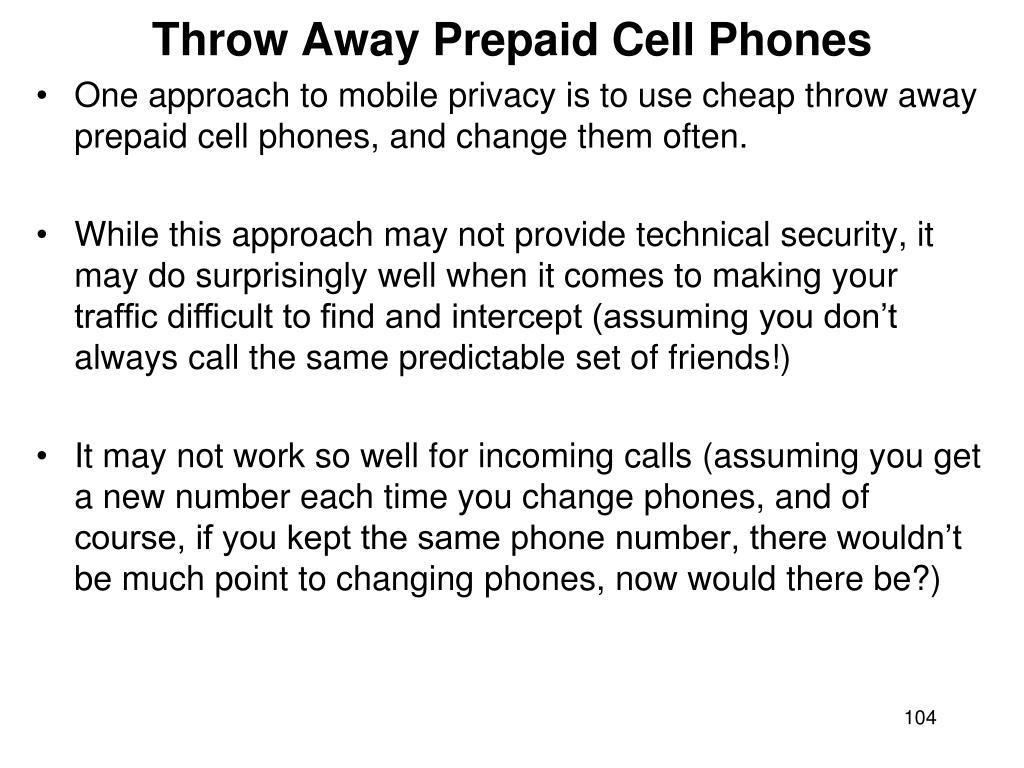 Throw Away Prepaid Cell Phones