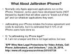 what about jailbroken iphones