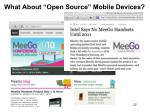what about open source mobile devices