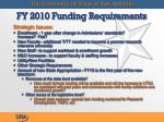 fy 2010 funding requirements