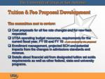 tuition fee proposal development the committee met to review