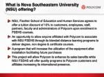 what is nova southeastern university nsu offering
