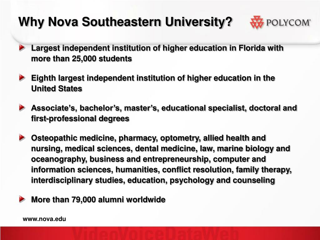 Why Nova Southeastern University?