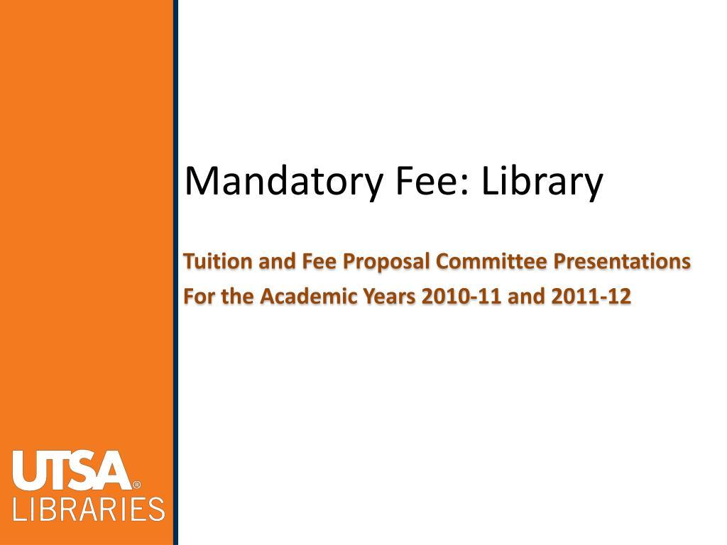 mandatory fee library l.