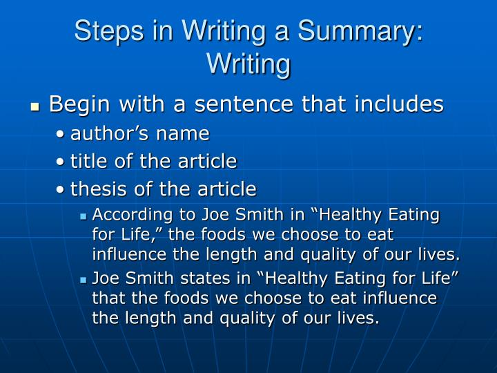 summary writing tips Summary writing tips and techniques 1 summary writing chapter 4 2 objectives 1 give an appropriate definition for a summary 2.