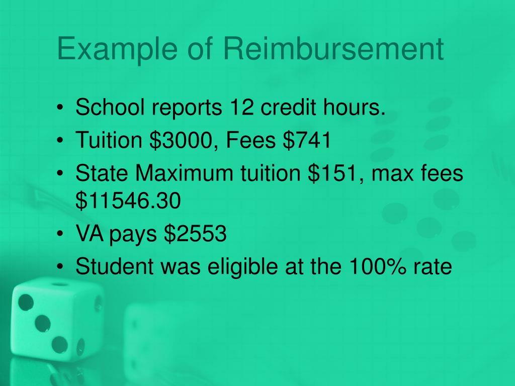 Example of Reimbursement