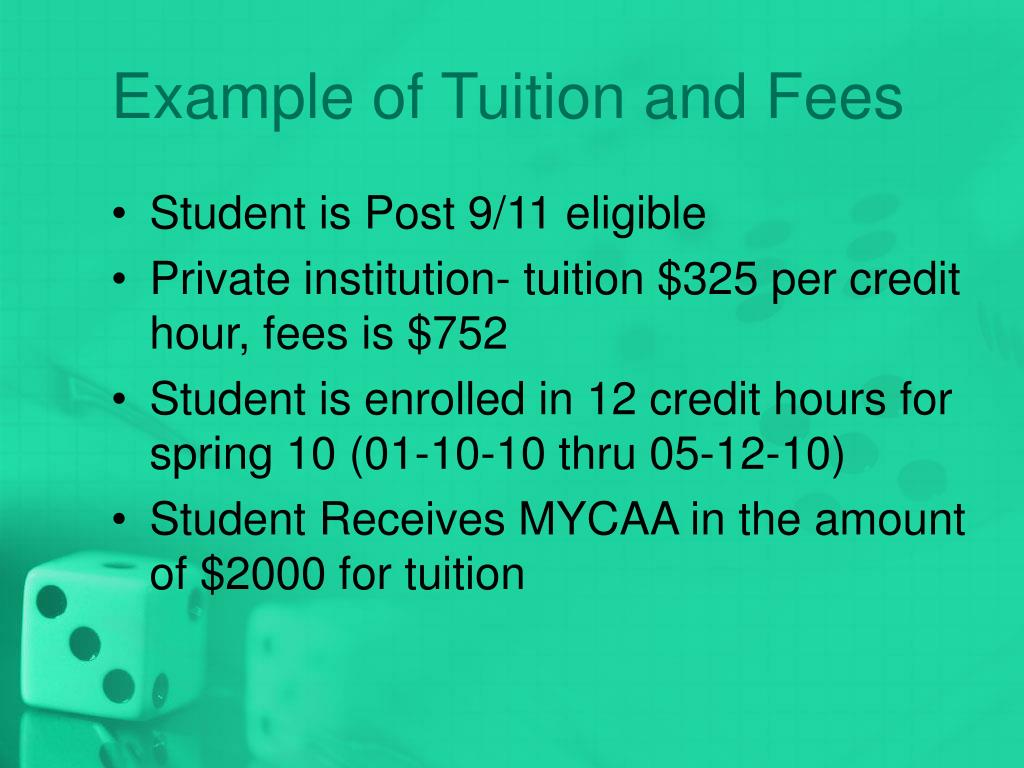 Example of Tuition and Fees