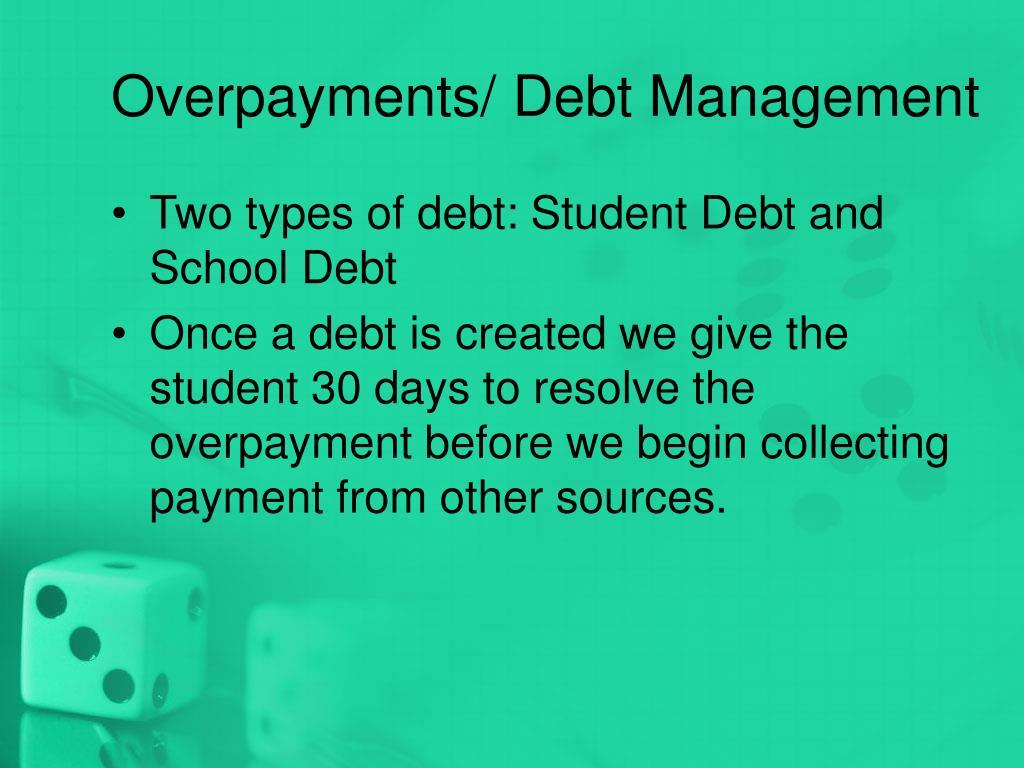 Overpayments/ Debt Management