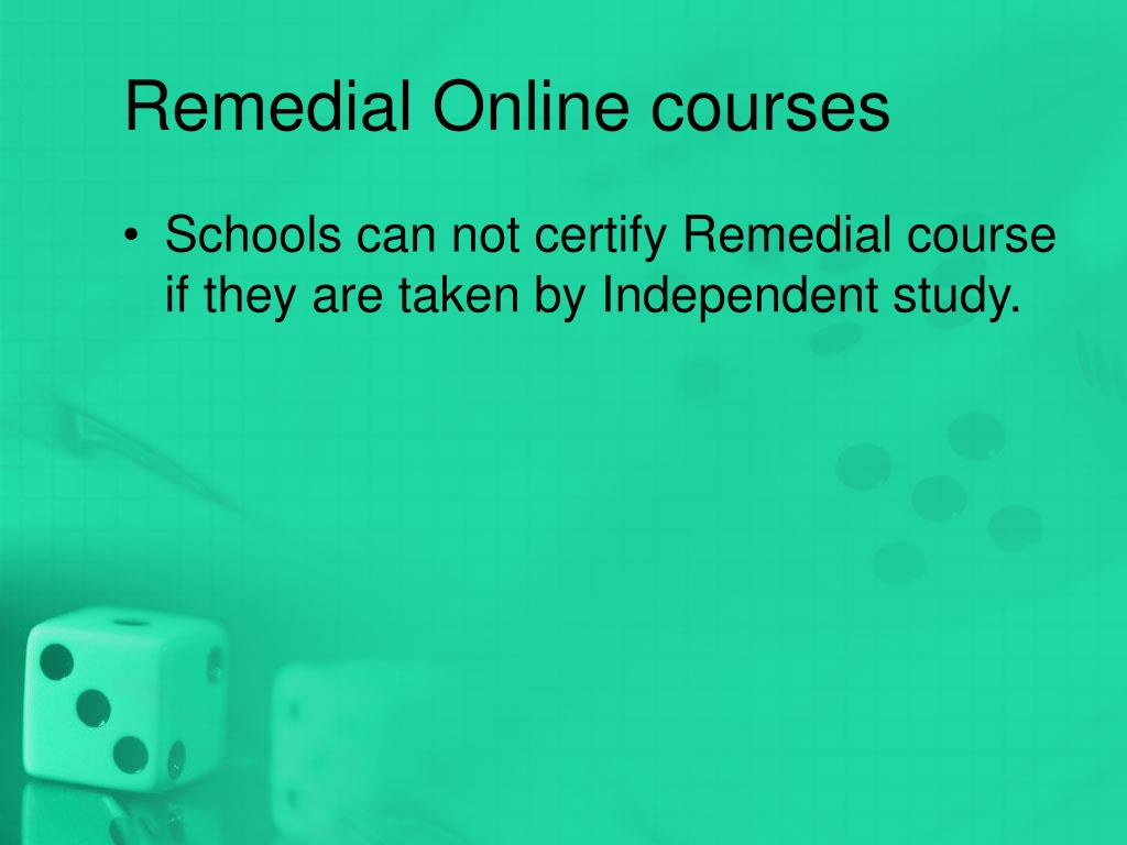 Remedial Online courses