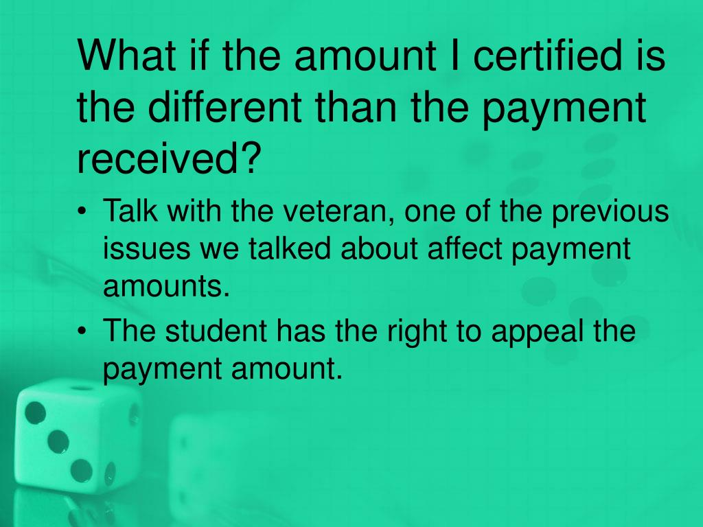 What if the amount I certified is the different than the payment received?