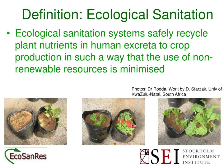 Ppt Definition A Sanitation System Powerpoint