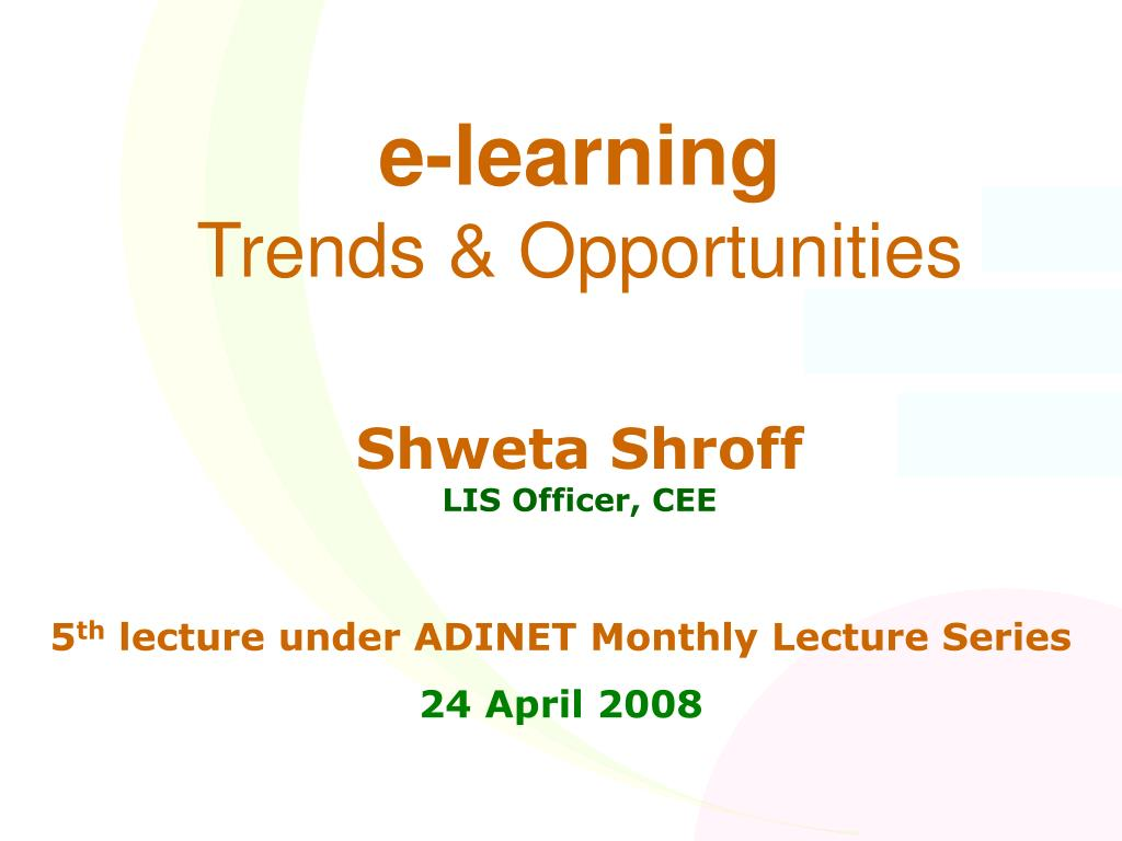 e learning trends opportunities l.