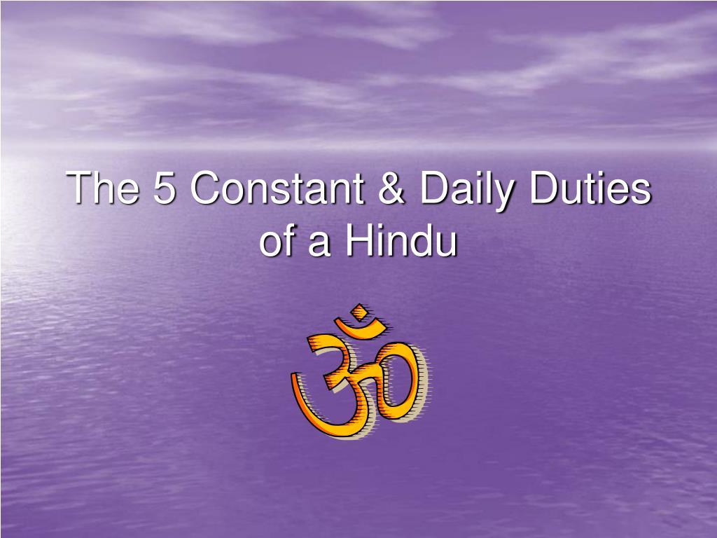 the duties of a hindu