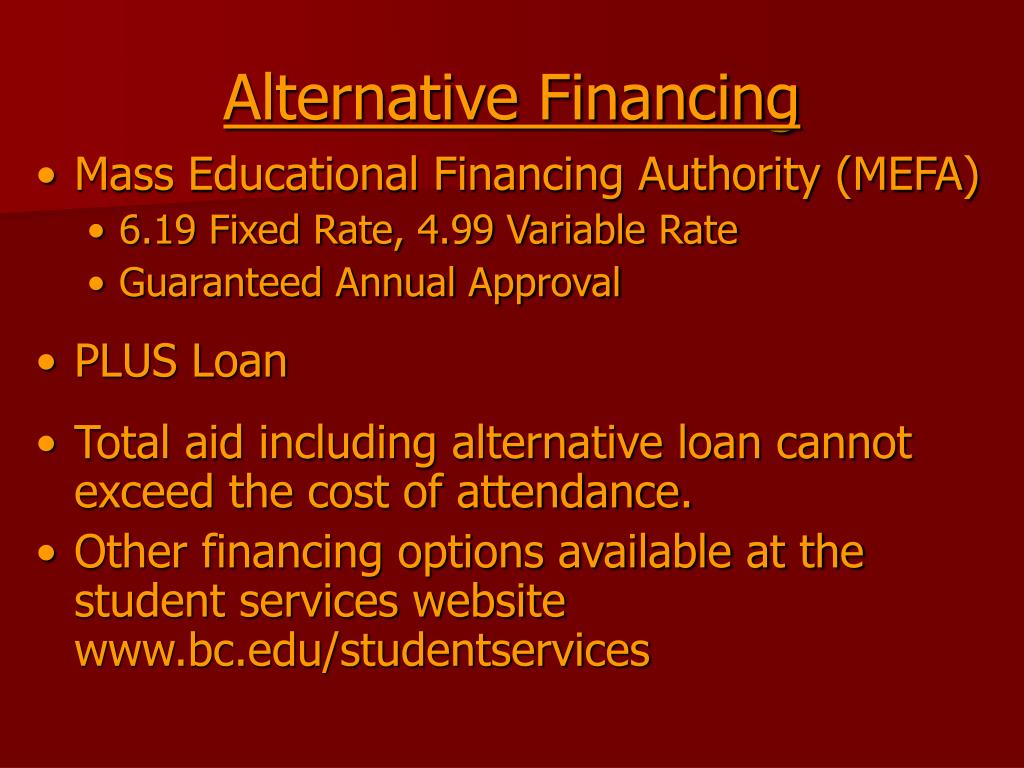 Alternative Financing