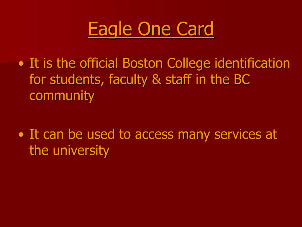 Eagle One Card