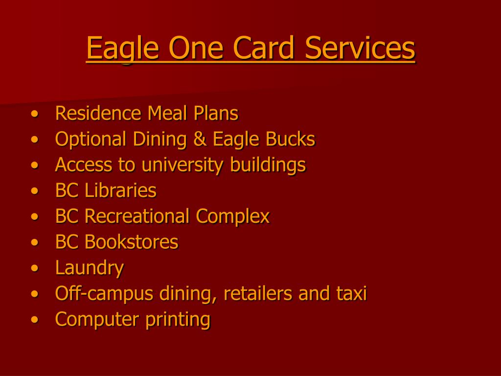Eagle One Card Services