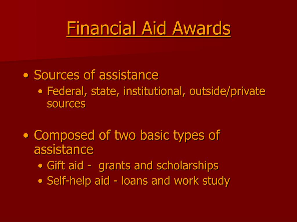 Financial Aid Awards