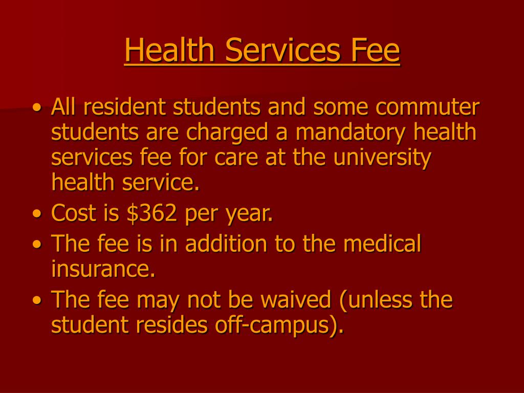 Health Services Fee