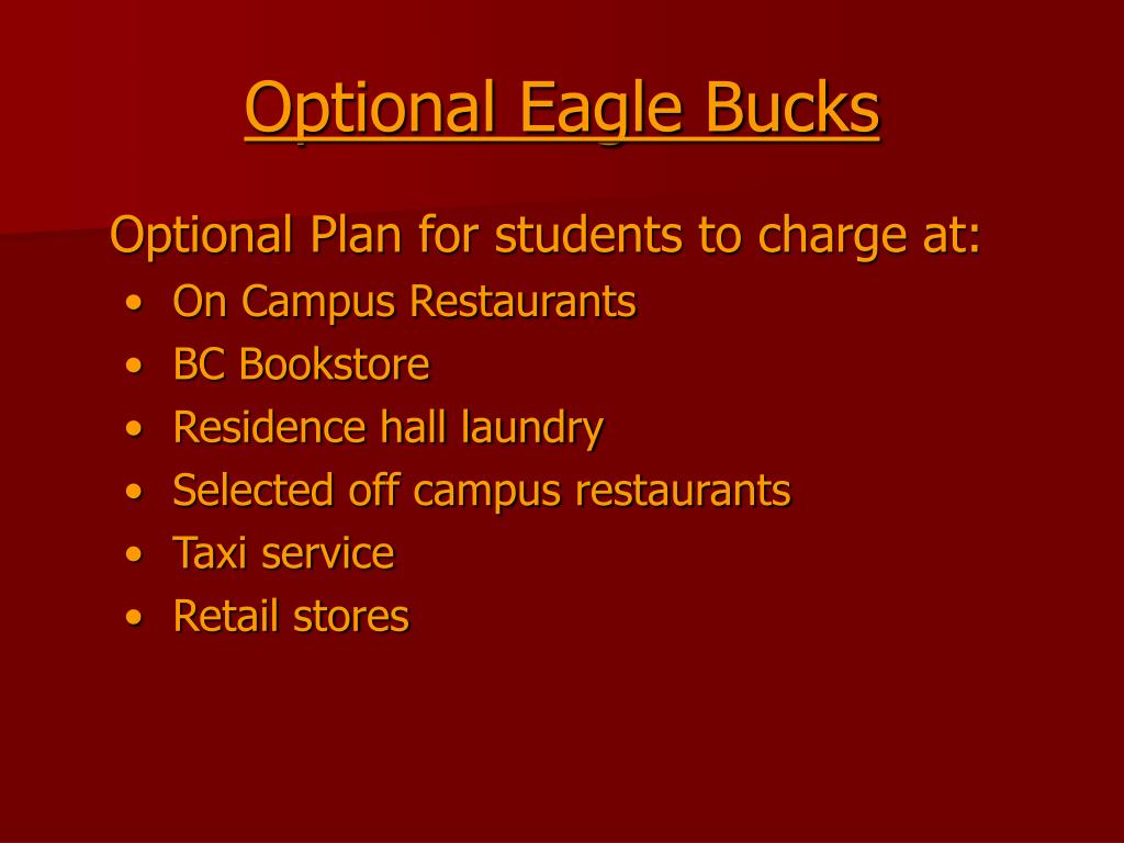 Optional Eagle Bucks