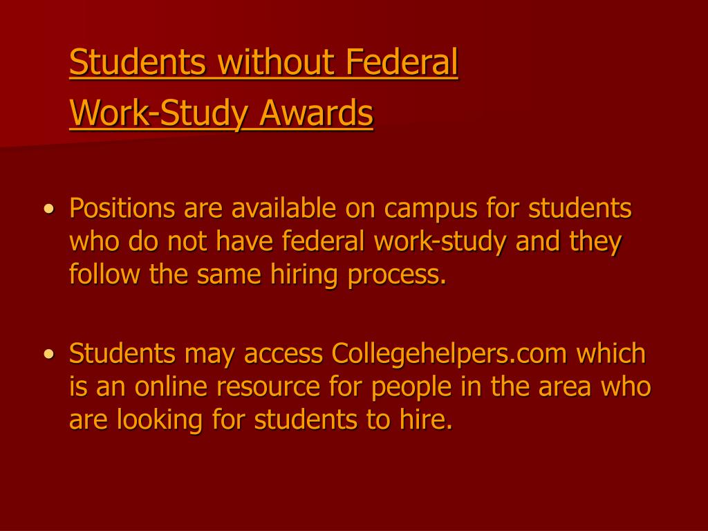 Students without Federal