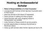 hosting an ambassadorial scholar