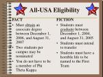 all usa eligibility