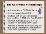 the guistwhite scholarships