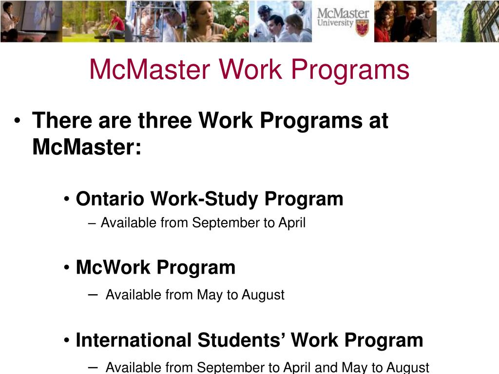McMaster Work Programs