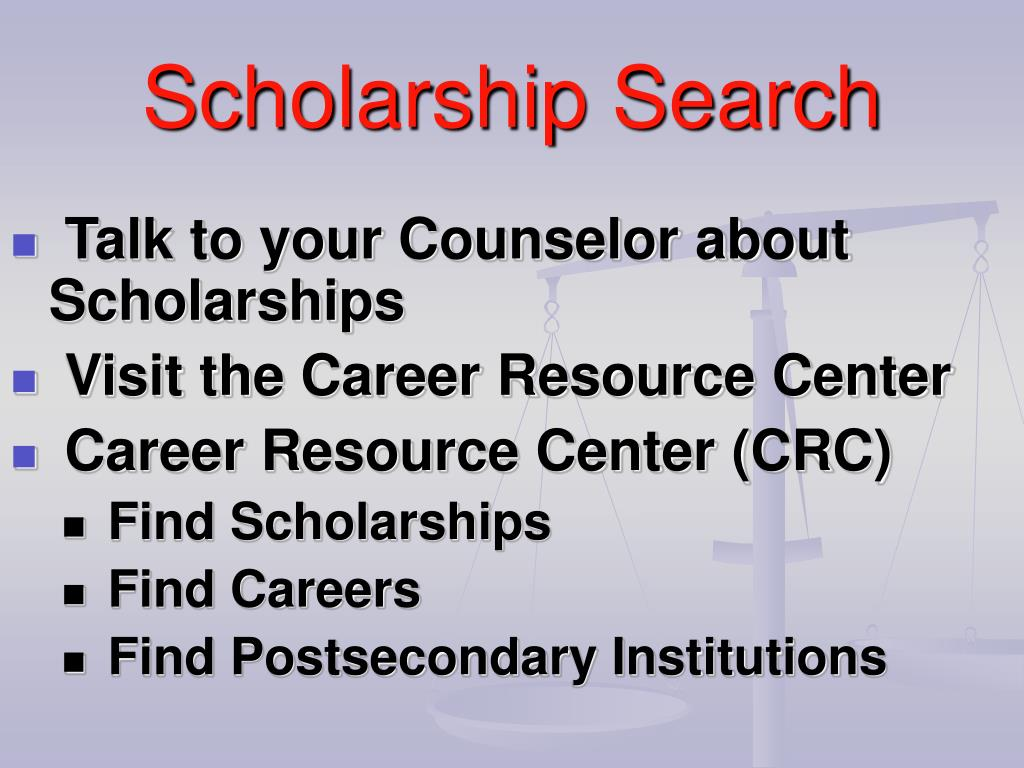 Talk to your Counselor about Scholarships
