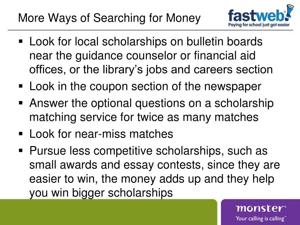 More Ways of Searching for Money