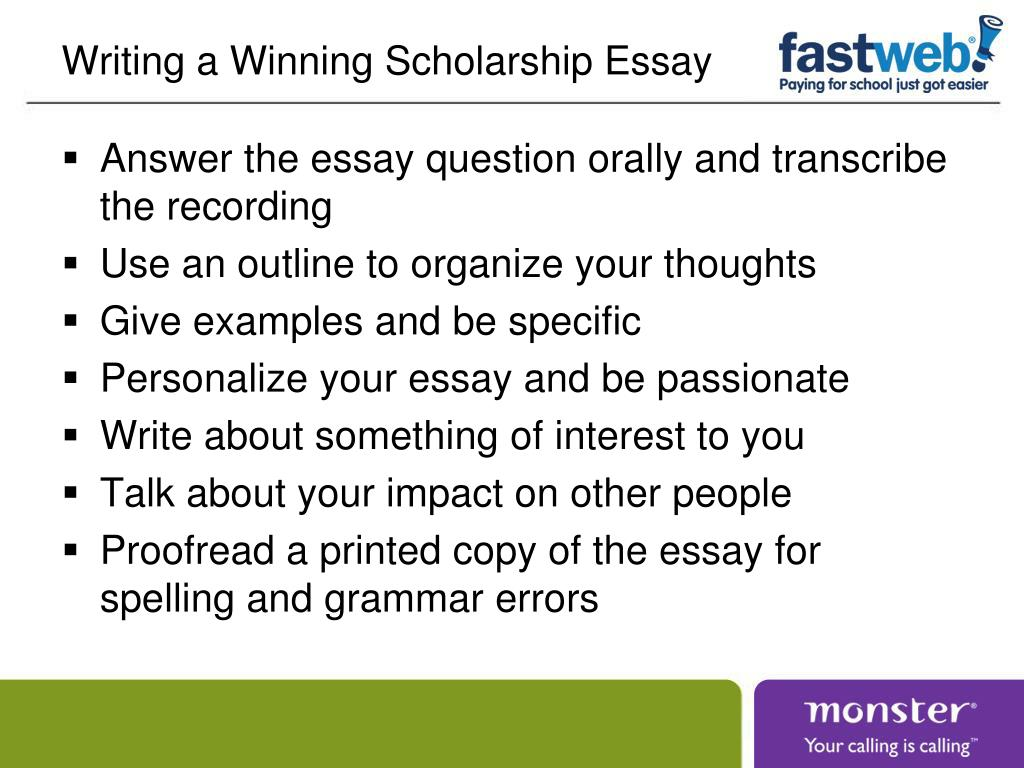 Writing a Winning Scholarship Essay
