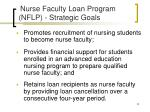 nurse faculty loan program nflp strategic goals