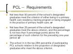pcl requirements
