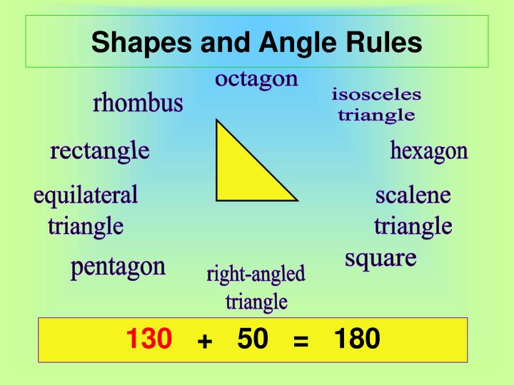 Shapes and angle rules1