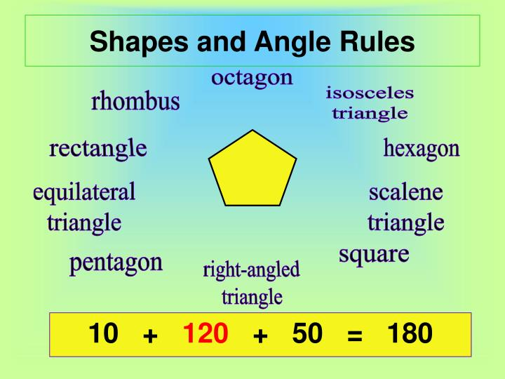 Shapes and angle rules2