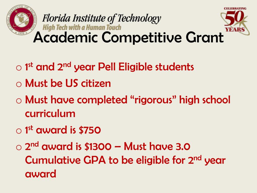 Academic Competitive Grant