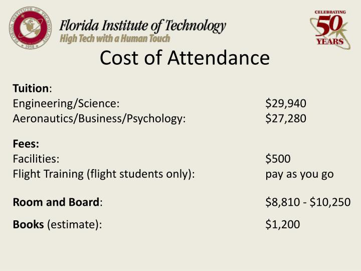Cost of attendance3