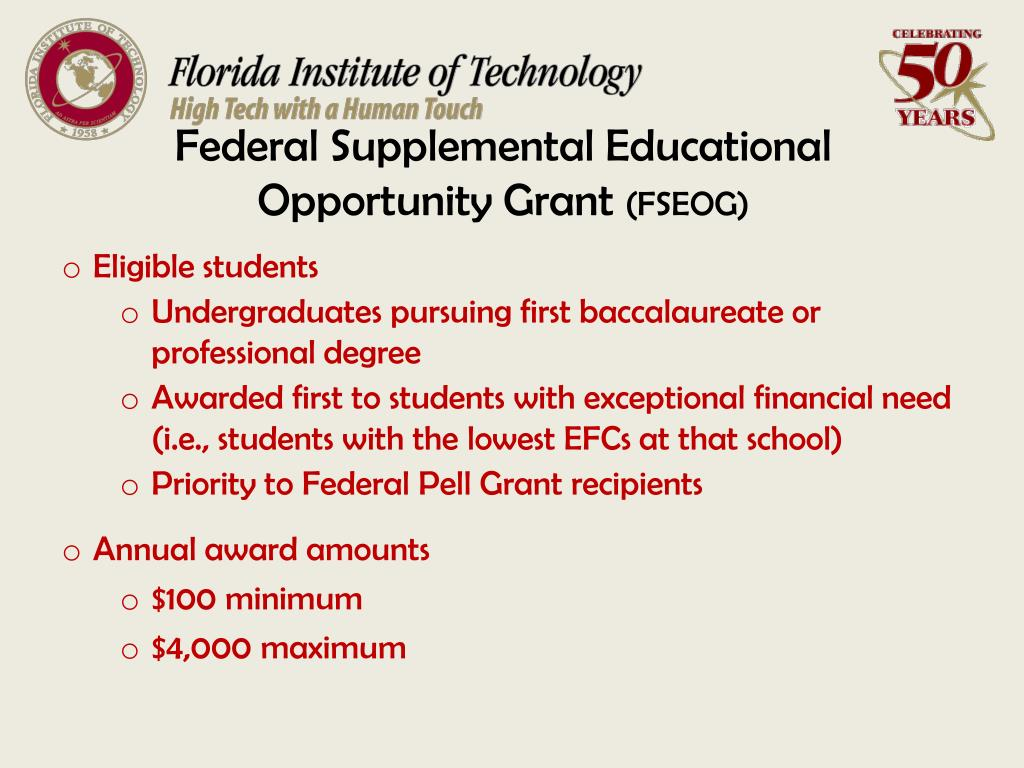 Federal Supplemental Educational Opportunity Grant