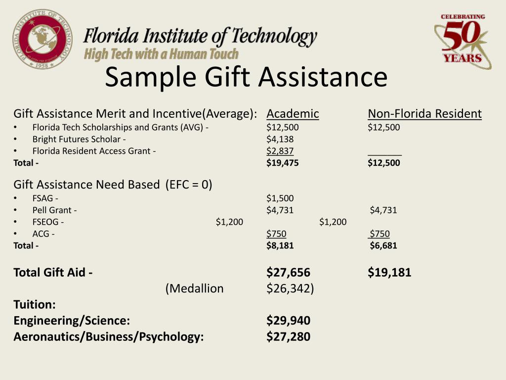 Sample Gift Assistance