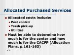 allocated purchased services