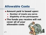 allowable costs1